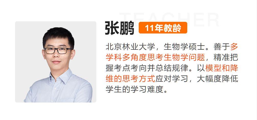 张鹏生物:2020+2021高三复习全年班,高考视频网课(内容更新)